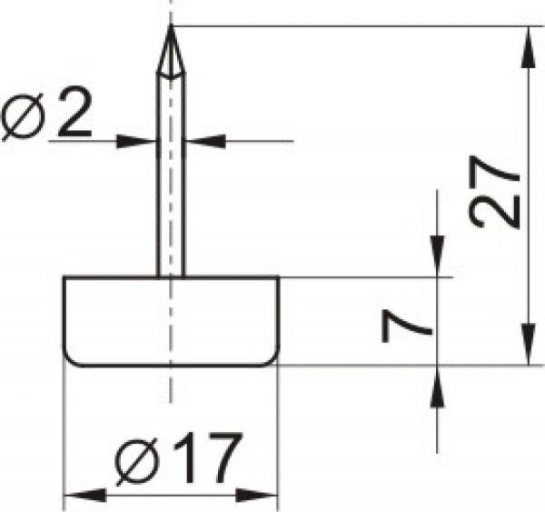 Кнопка № 486 белая